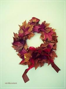 Ghirlanda di foglie autunnali