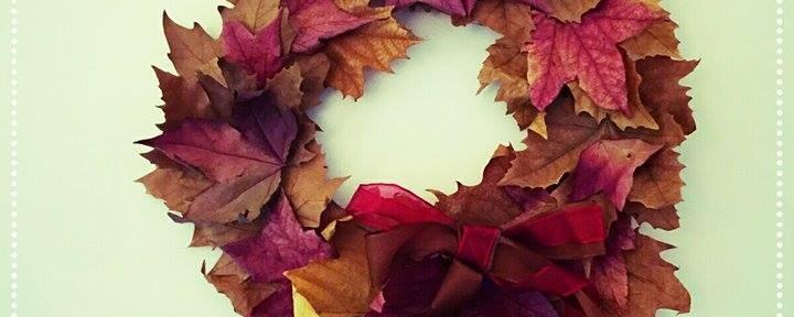 L'autunno a casa. Facciamo una ghirlanda con le foglie autunnali