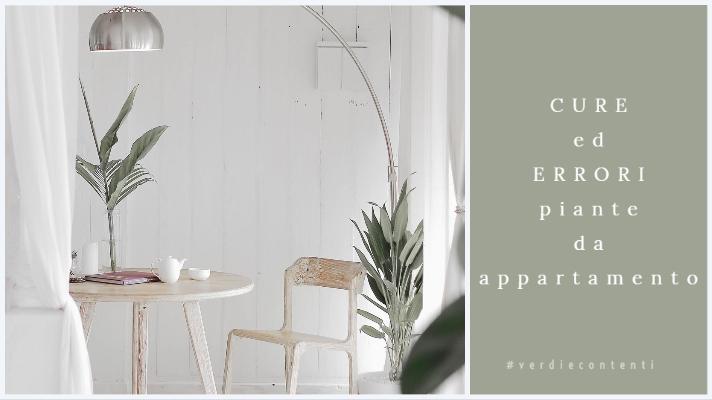 Errori e Cure piante da appartamento.